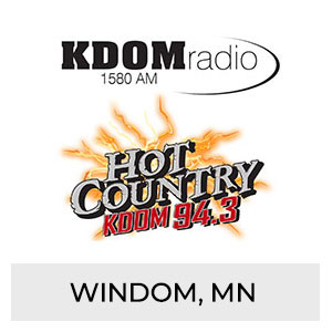 KDOM Radio 1580 AM, Hot Country KDOM 94.3 FM Windom, MN
