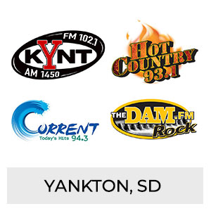KYNT FM 102.1 AM 1450, Hot Country 93.1, Current 94.3, The DAM FM Yankton, SD
